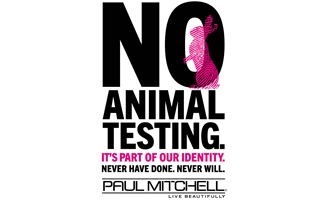 NO ANIMAL TESTING. IT'S PART OF OUR IDENTITY. NEVER HAVE DONE. NEVER WILL.
