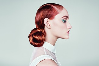 MAKE IT SHINE - with a sleek, modern parting and gorgeous chignon